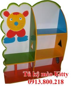 Tủ kệ mầm non Kitty - An Việt